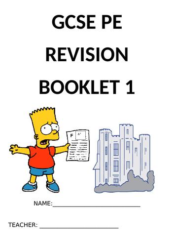 GCSE PE EDEXCEL (NEW SPEC 2016) component 1 revision booklet
