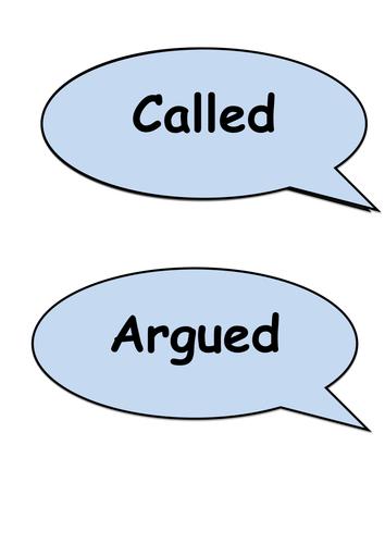 Said Synonyms Display