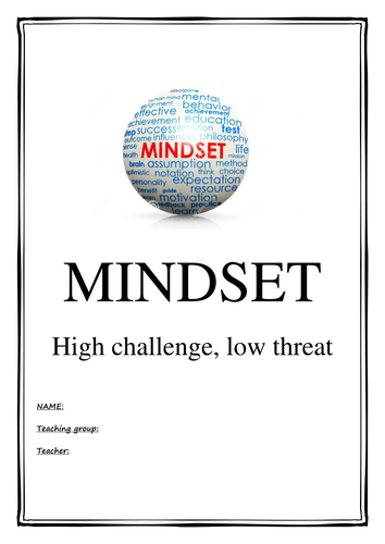 Year 9 Mindset and Resilience booklet