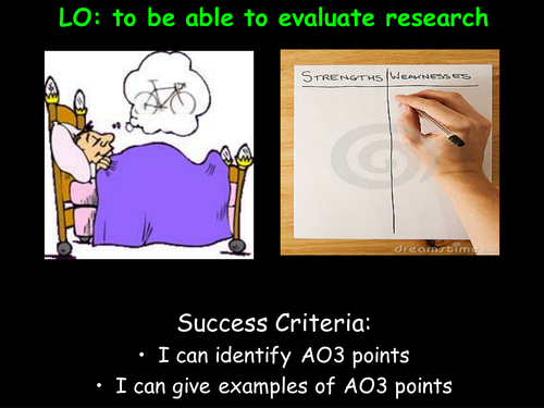 Evaluating Research Studies (GRAVE) Psychology