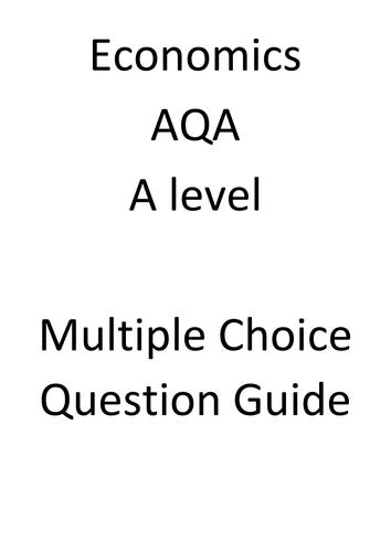 AQA Economics multiple choice Question help by