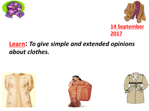 CLOTHES IN URDU