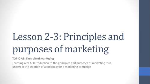 Unit 2 Developing a Marketing Campaign Lesson 2-3