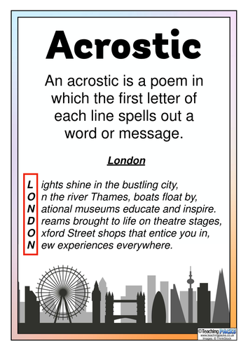 Types of Poems - Classroom Display Posters   Teaching Resources