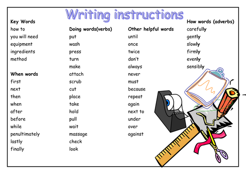 instruction writing examples year 6