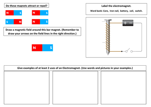 Electromagnets (with magnet revision)