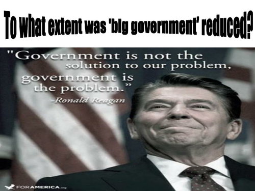 Edexcel In Search of the American Dream Topic 5 The Impact of the Reagan Presidency 1981-1996