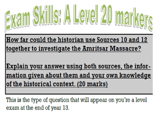 Edexcel Britain and India 1914-1948 Topic 1 The First World War and its impact on  British India 191