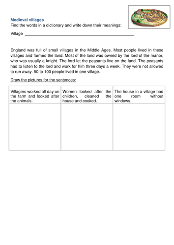 Differentiated / SEND Medieval life