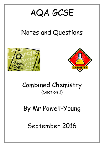 AQA GCSE Combined Science Chemistry Workbooks/Revision