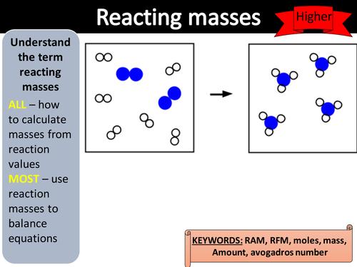 GCSE Chemistry AQA Trilogy year 10 - reacting masses