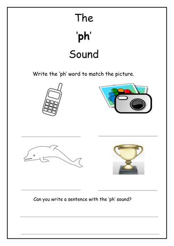 Phonics: ph sound worksheet by Laurenstuart - Teaching Resources - Tes