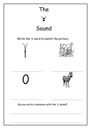 Phonics: z sound worksheet
