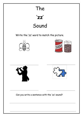 Phonics: zz sound worksheet by Laurenstuart | Teaching Resources