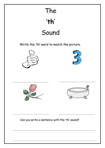 Phonics Th Sound Worksheet By Laurenstuart Teaching