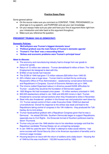 Practice Essay Questions and Plans for AQA A Level History: The American Dream 1945-80