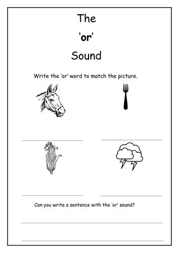 Phonics: or sound worksheet