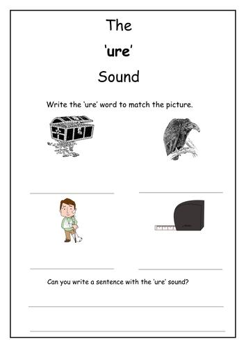 Phonics: ure sound worksheet by Laurenstuart - Teaching Resources - Tes