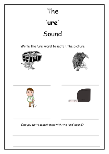 Phonics: ure sound worksheet
