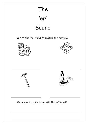 phonics er sound worksheet by laurenstuart teaching resources tes. Black Bedroom Furniture Sets. Home Design Ideas