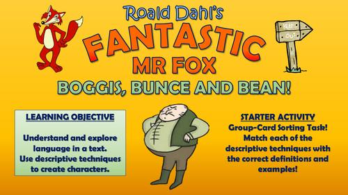 Fantastic Mr Fox Boggis Bunce And Bean Teaching Resources