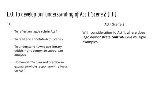 Lesson 4 - Othello - Act I Scene II - Iago and Literary Criticism
