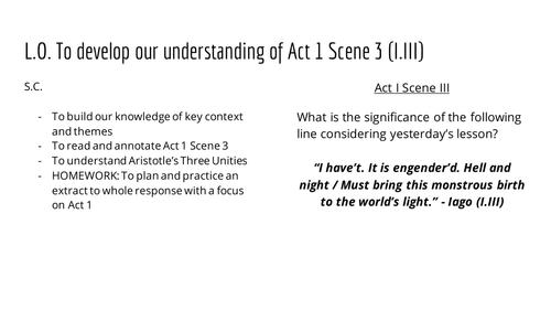 Othello - Lesson 5 - Act 1 Scene 3 - Morality Plays (Evil and Dark vs Light) + Practice Q