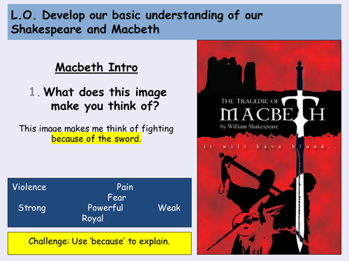 KS3 Lower Ability SEN Macbeth - Act 1 Scene 2 - Character and Soldiers