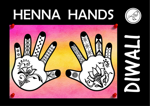 Diwali - 'Henna Hands' art activity