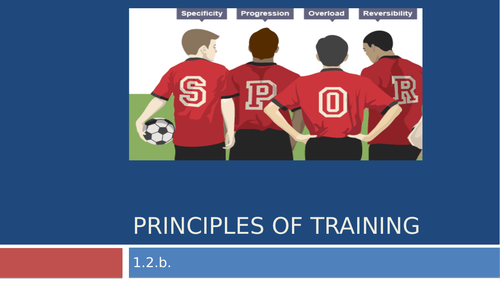 Principles of Training and Optimising Training