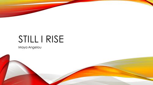 Still I Rise (Edexcel iGCSE Paper 2)