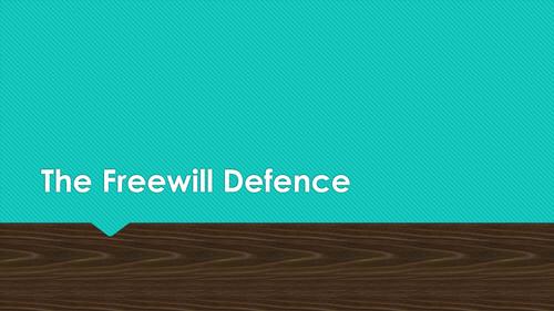 Free Will Defence Theodicy Mackie Plantinga AQA A Level RS
