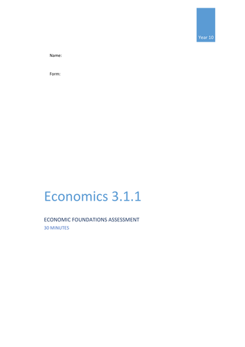 3.1.1 Economic Foundations