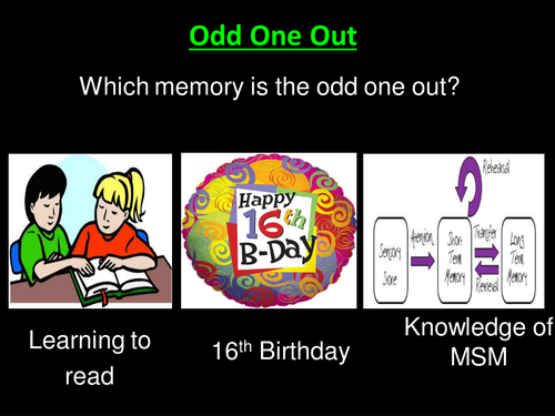 Types of Long-Term Memory- Psychology A-level