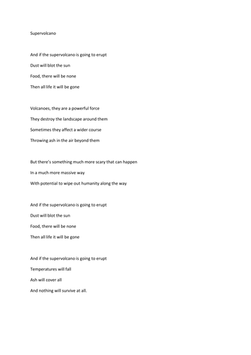 Supervolcano Song Lyrics