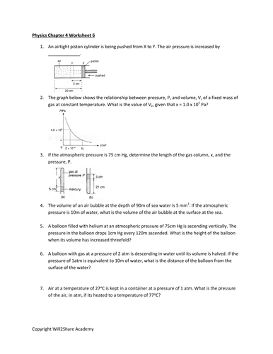GAS LAWS WORKSHEET WITH ANSWERS by kunletosin246 - Teaching ...