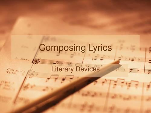 Lyric Writing – literary devices