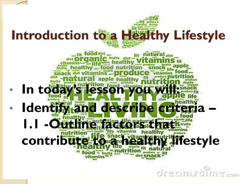 Factors that lead to a healthy and unhealthy lifestyle.