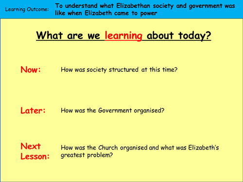 Elizabeth's problems in society and Government