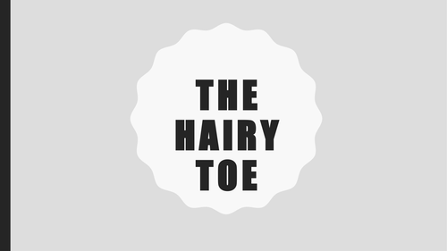 The Hairy Toe: PPT, poem and worksheets