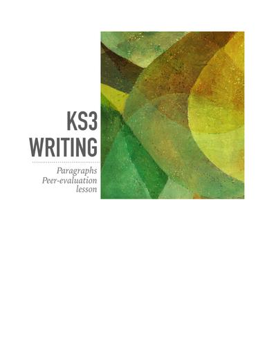 KS3 Writing: evaluating PEE paragraphs (WAGOLL)