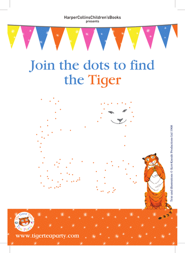 Judith Kerr The Tiger Who Came to Tea Dot-to-dot