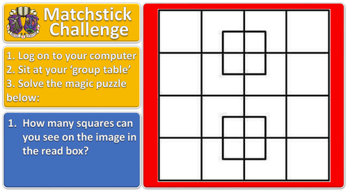 Matchstick Challenge #3 lesson starter for ICT or maths (or any subject!)