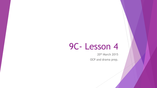 China's One Child Policy- OUTSTANDING DRAMA Lessons 1 & 2