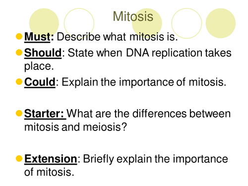 mitosis experiment