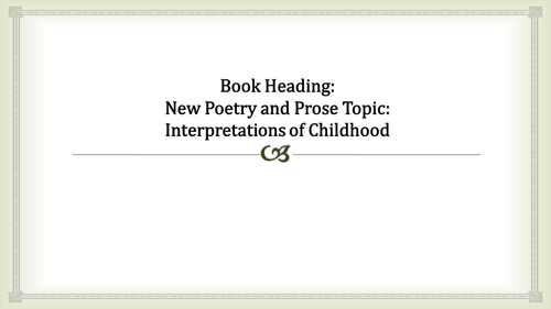 Romanticism and childhood: full introductory PowerPoint linking to Wordsworth and Blake
