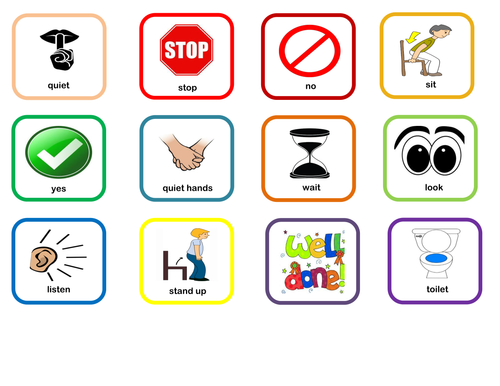 Free Printable Visual Lanyard for ASD Autism Pupils