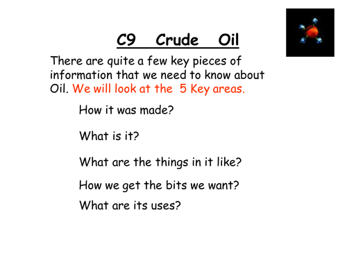 NEW AQA C9 Organic chemistry Crude Oil/ Distillation/Hydrocarbons naming and Cracking
