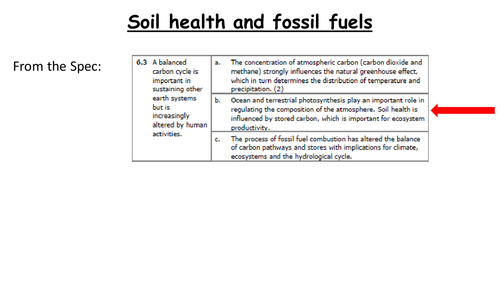 GCE Edexcel Geography Carbon Cycle Lesson 6