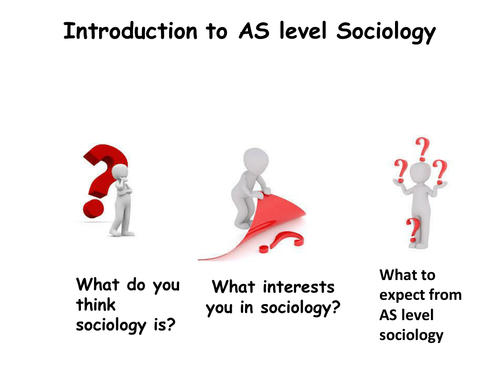 Introduction to AQA AS Sociology and Families and Households – Sociology Worksheets